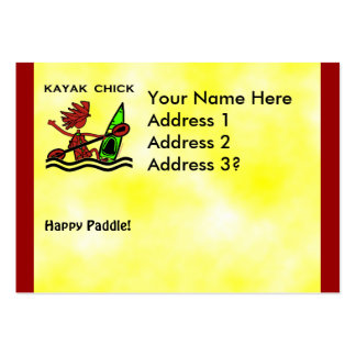 Kayak Chick Designs & Things Large Business Cards (Pack Of 100)