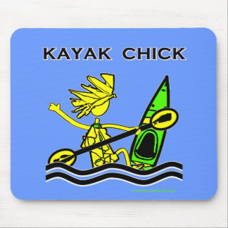 Kayak Chick Designs & Things Mouse Pad