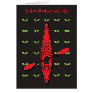 Kayak Christmas card