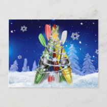 Kayak Christmas Tree Holiday Postcard