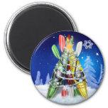 Kayak Christmas Tree - Magnet