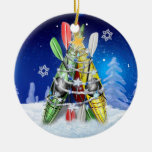 Kayak Christmas Tree - Ornament