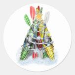 Kayak Christmas Tree - Stickers Stickers