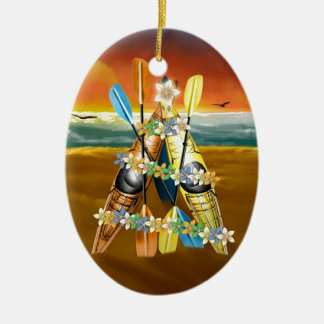 Kayak Christmas Tree - Tropical Ornament