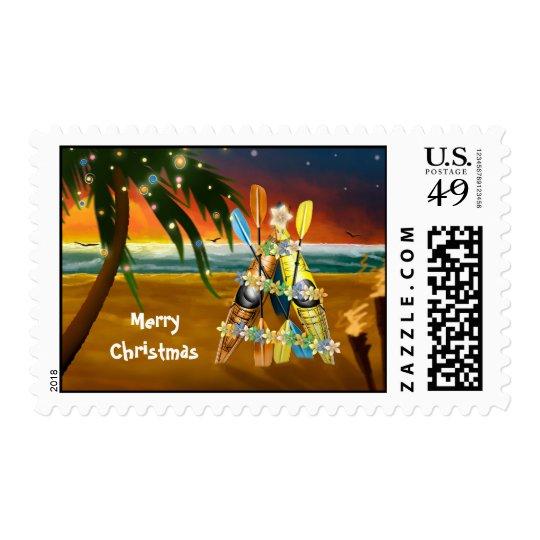 Kayak Christmas Tree - Tropical Postage