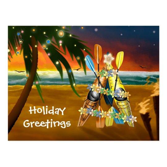 Kayak Christmas Tree - Tropical Postcard
