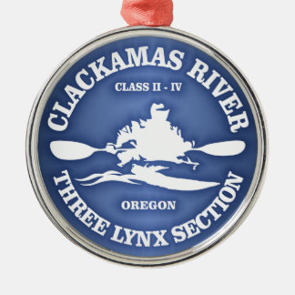 Kayak (Clackamas River) Metal Ornament