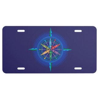 Kayak Compass Rose License Plate