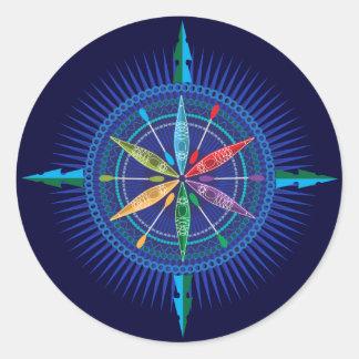 Kayak Compass Rose sticker