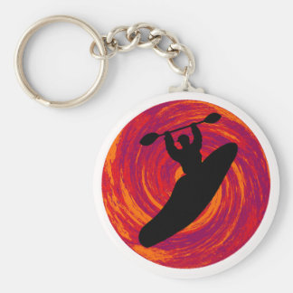 Kayak Cosmic Waters Keychain