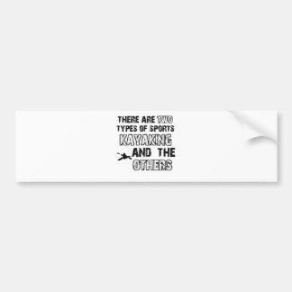 kayak designs for lovers of the sport bumper sticker