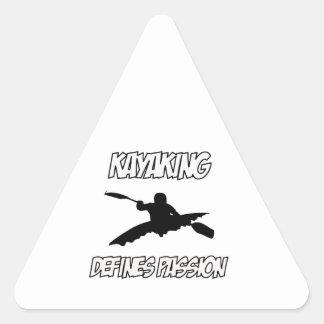 kayak designs triangle stickers