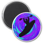 Kayak el círculo imán redondo 5 cm