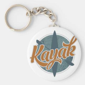 Kayak Emblem Keychain