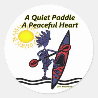 Kayak esto es cómo ruedo II Pegatina Redonda
