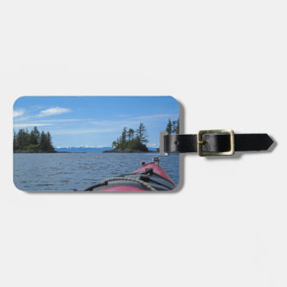 Kayak facing the Alaska Mountain Range Luggage Tag