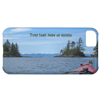 Kayak facing the Alaskan Mountain Range Cover For iPhone 5C