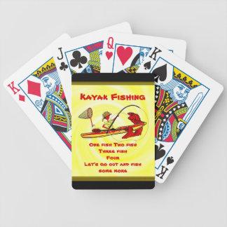 Kayak Fishing Bicycle Playing Cards