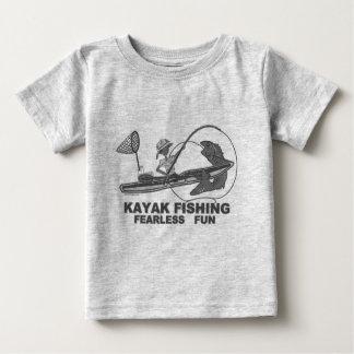 Kayak Fishing Black & White Whimsy Baby T-Shirt