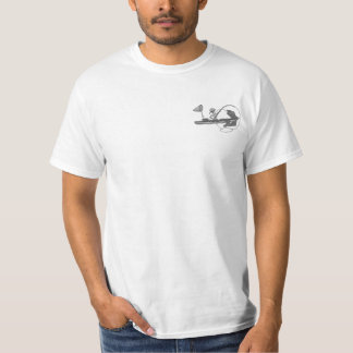 Kayak Fishing Black & White Whimsy T-Shirt