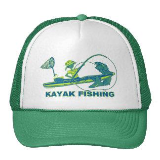 Kayak Fishing Black & White Whimsy Trucker Hat
