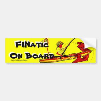 Kayak Fishing Car Bumper Sticker