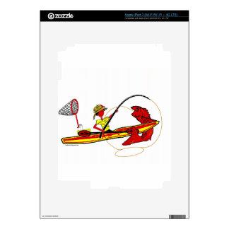 Kayak Fishing Decal For iPad 3