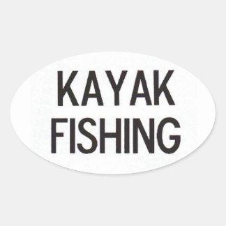 Kayak Fishing Euro Decal Oval Sticker