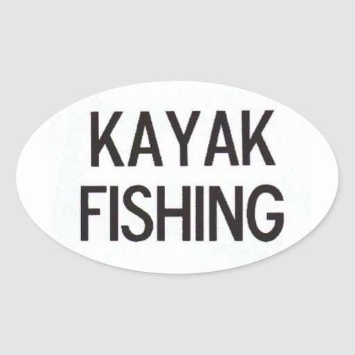 Kayak Fishing Euro Decal Sticker