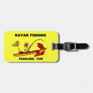 Kayak Fishing Fearless Fun Travel Bag Tags