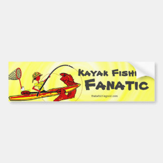 Kayak Fishing Fun Orange Bumper Sticker