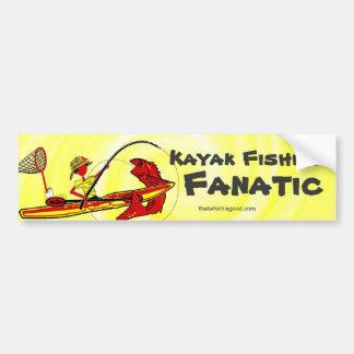 Kayak Fishing Fun Orange Bumper Sticker