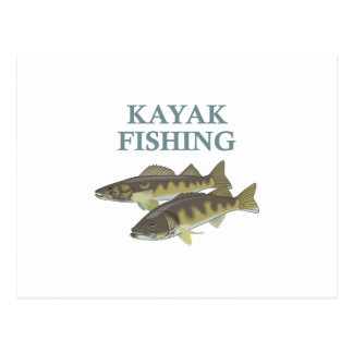 KAYAK FISHING POSTCARD