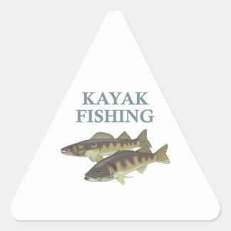KAYAK FISHING TRIANGLE STICKER