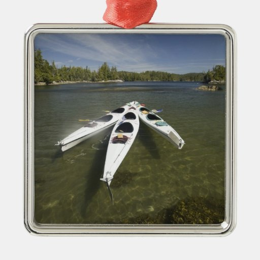Kayak Fleet at Rest During Late Afternoon at Christmas Tree Ornament