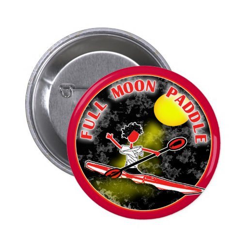 Kayak Full Moon Paddle 2 Inch Round Button