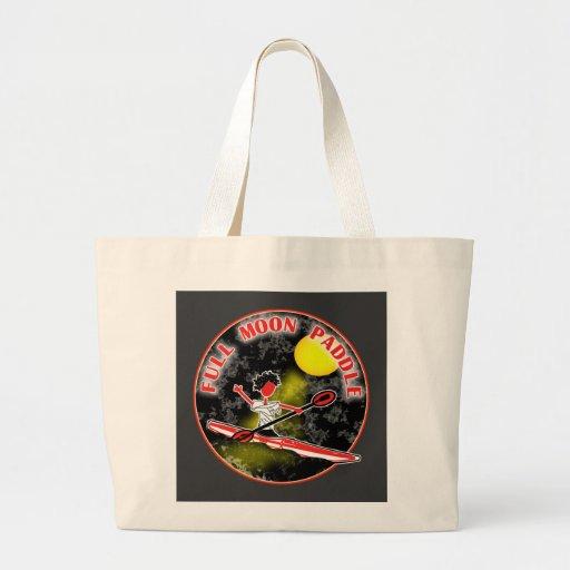 Kayak Full Moon Paddle Jumbo Tote Bag