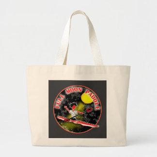 Kayak Full Moon Paddle Large Tote Bag