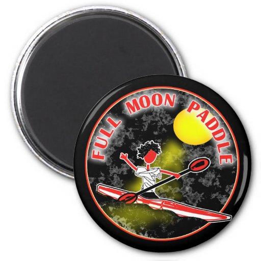 Kayak Full Moon Paddle Refrigerator Magnets