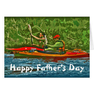 Kayak Happy Father's Day Card