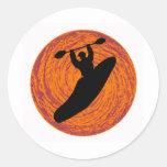 Kayak Happy Halloween Round Sticker