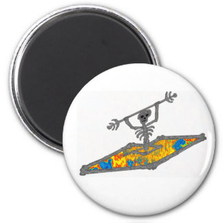 Kayak Hippie Bones 2 Inch Round Magnet