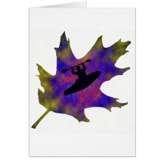 Kayak Hippie Leaf Card