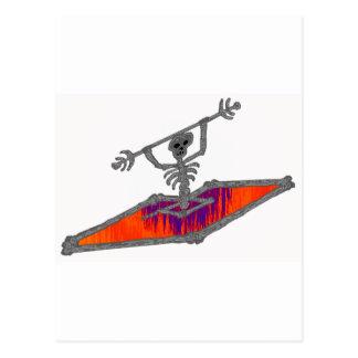 kayak hot games postcard