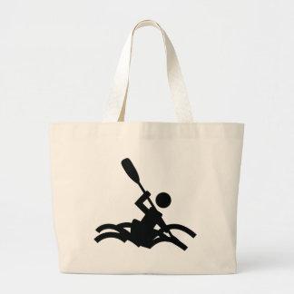 kayak icon tote bag