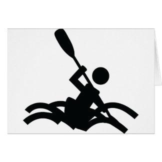kayak icon greeting cards