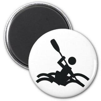 kayak icon fridge magnet