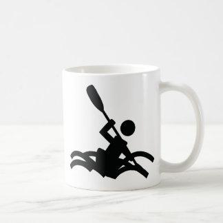 kayak icon coffee mug