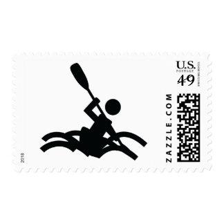 kayak icon postage stamps