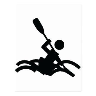 kayak icon post cards